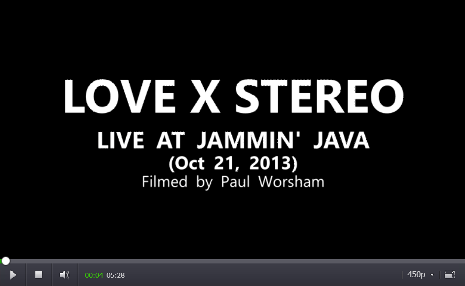 Love X Stereo live at Jammin' Java